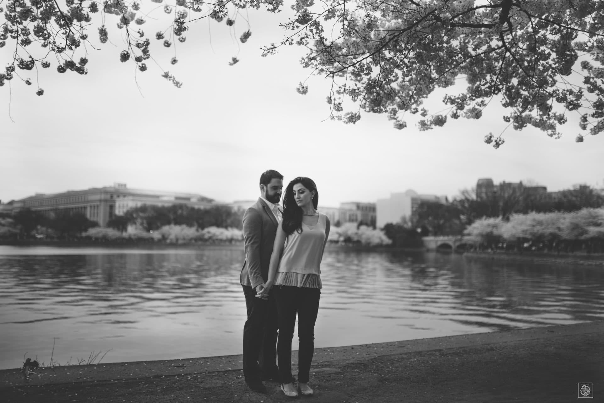 Tidal Basin - Cherry Blossom - Spring - Engagement Session