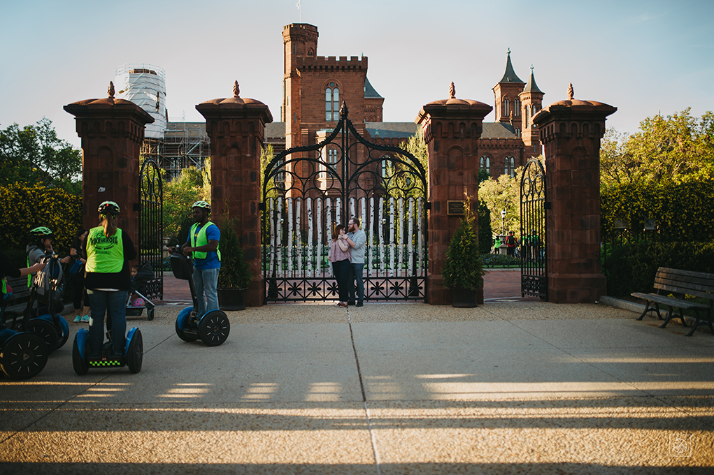 Washington, D.C. Engagement Photography at the Smithsonian Castle