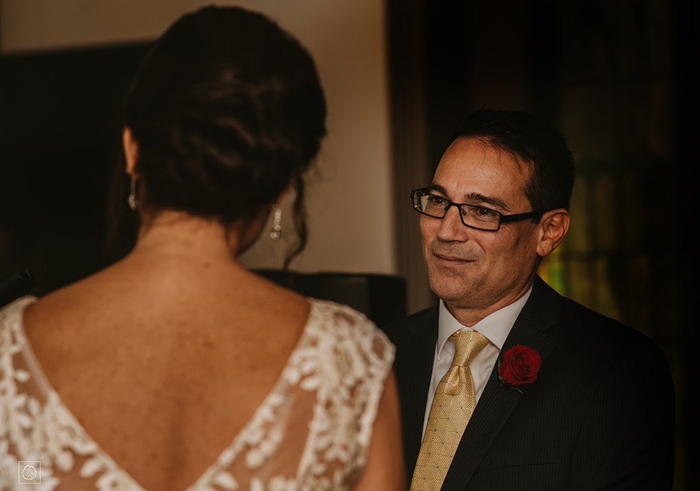 Groom's emotions at wedding in Manassas