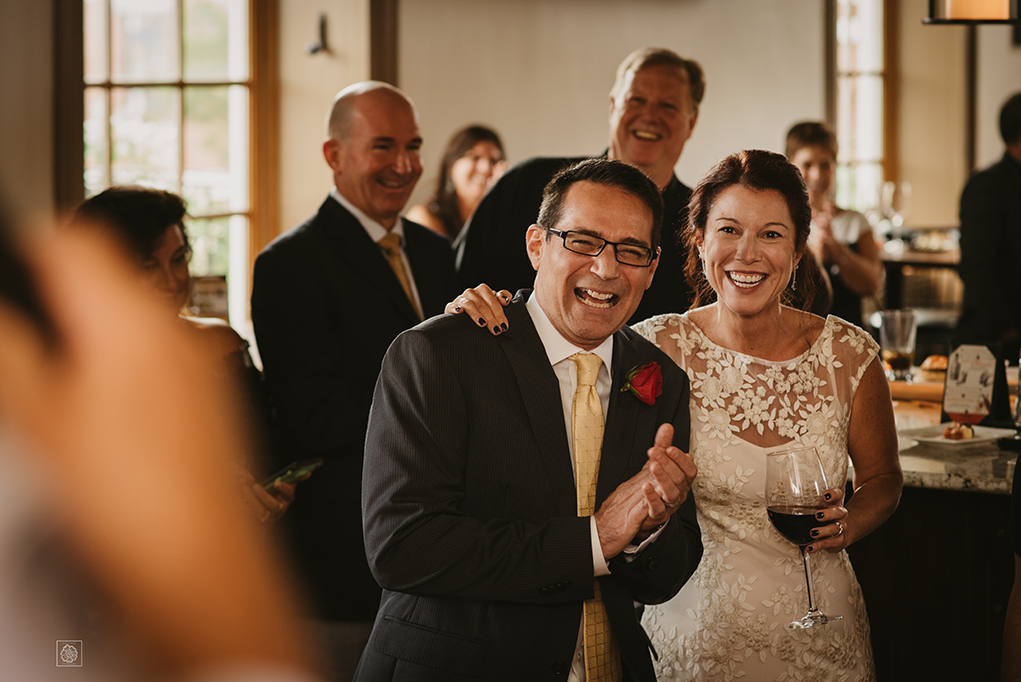 Joyful speeches at Virginia wedding