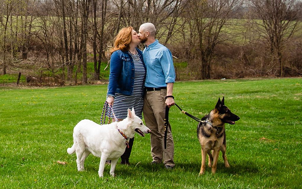 Virginia Engagement Photographer Engagement Session with dogs