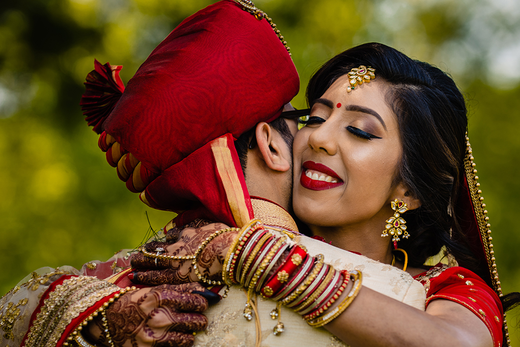 Indian Wedding Ceremony First Look William F. Bolger Center Maryland