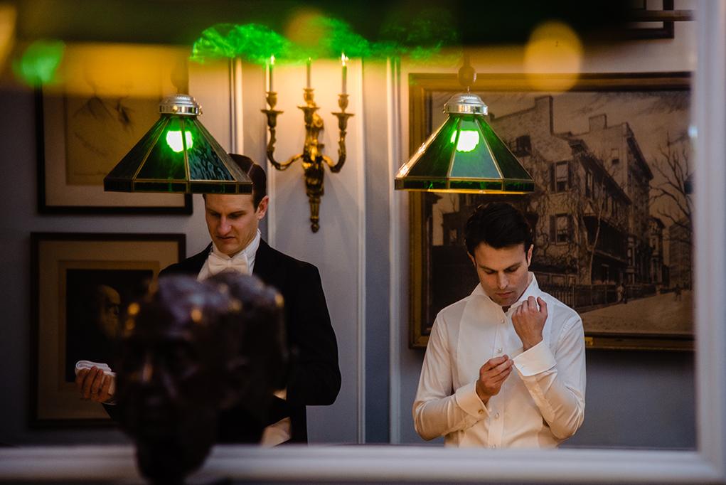 Cosmos Club DC Wedding Groom Getting Ready