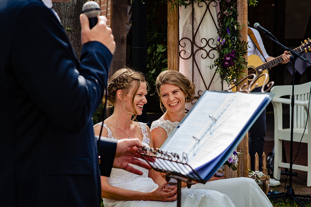 Same-sex destination wedding in Germany by award-winning DC photographers of Potok's World Photography