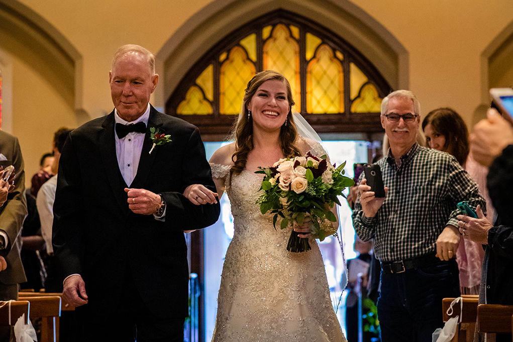 Wedding ceremony at Dahlgren Chapel at Georgetown University before Omni Shoreham DC by DC wedding photographers Potok's World Photography
