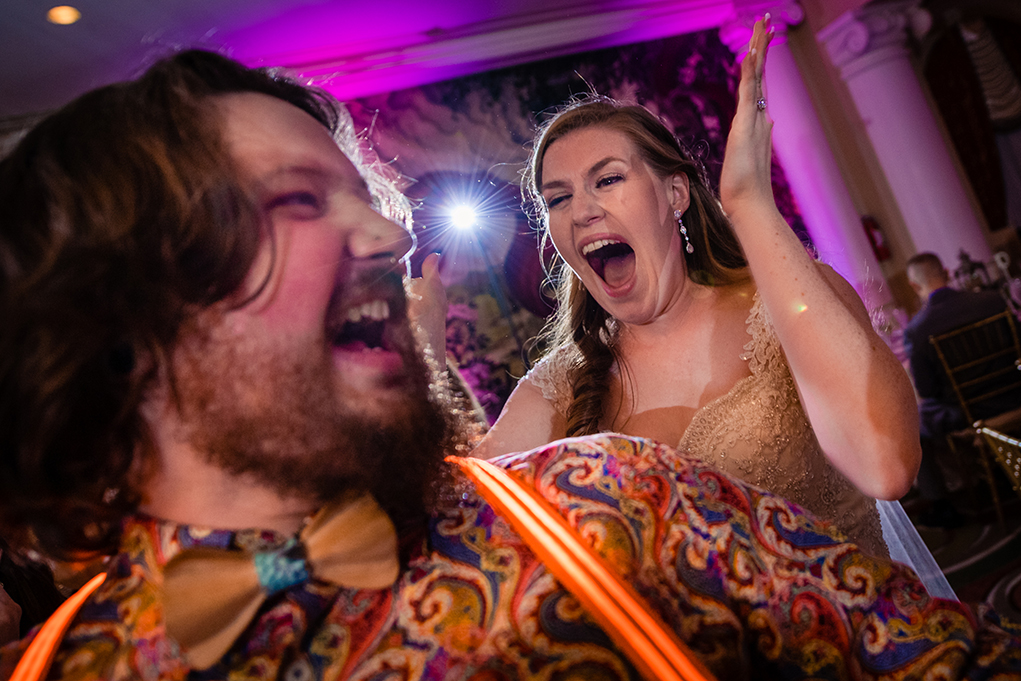 Funny moment at the wedding reception of the Omni Shoreham DC wedding by DC wedding photographers Potok's World Photography