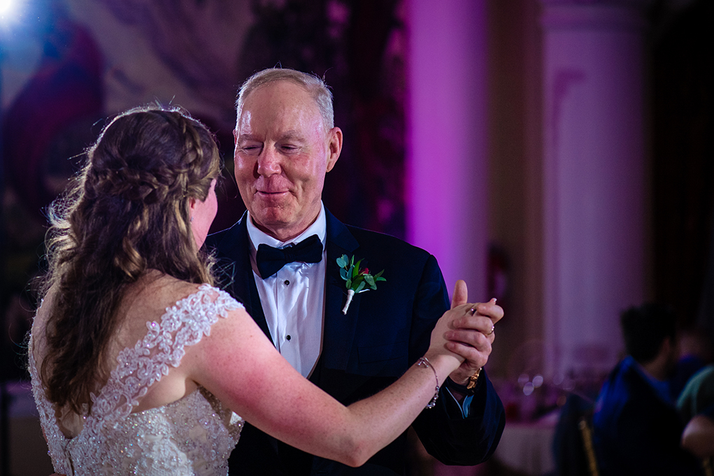 Father-daughter dance at the Omni Shoreham DC wedding by DC wedding photographers Potok's World Photography