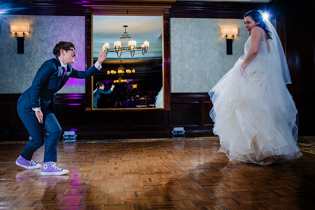 First dance at the City Club of Washington wedding reception by DC wedding photographers Anji and Pete Martin of Potok's World Photography