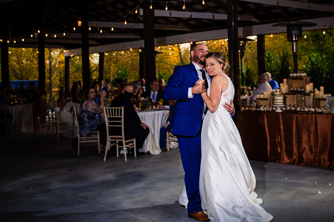 First dance at Vanish Brewery wedding in Virginia by DC wedding photographers Potok's World Photography
