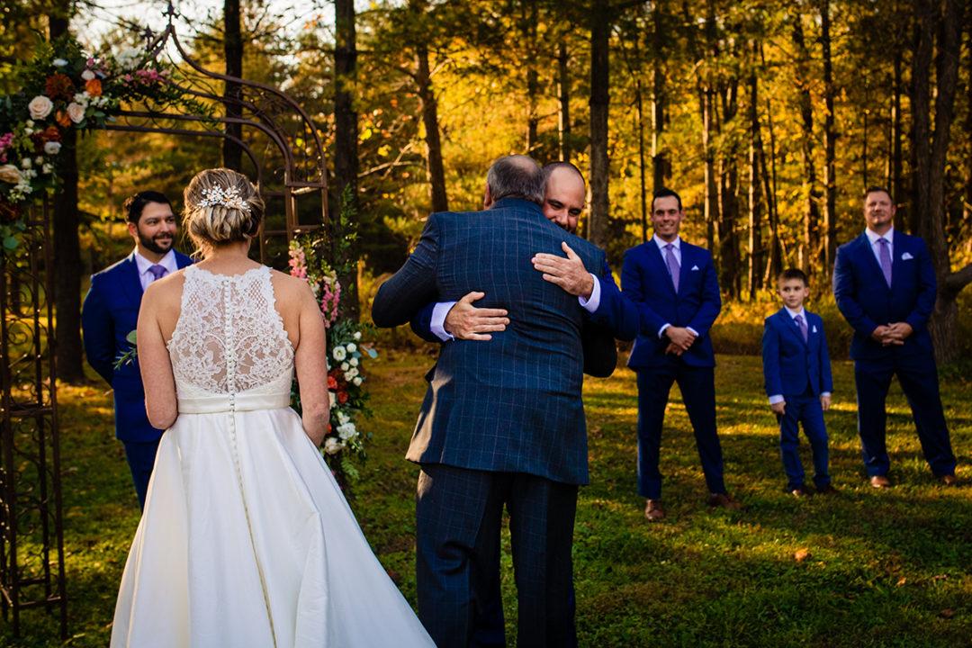 Wedding ceremony moment at Vanish Brewery Virginia wedding by DC wedding and engagement photographers Potok's World Photography