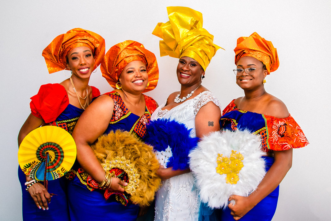 Vibrant Ghanaian compact wedding at Fathom Gallery by DC wedding photographers of Potok's World Photography