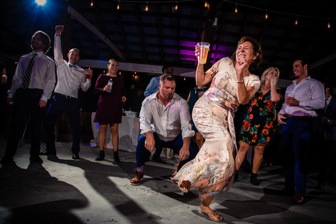 Wedding reception moment at Vanish Brewery Virginia wedding by DC wedding and engagement photographers Potok's World Photography