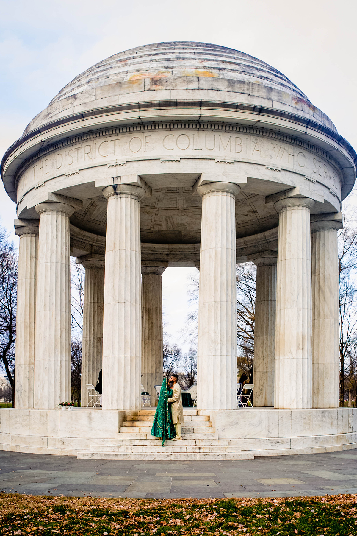 South-asian mini wedding at the DC War Memorial by Potok's World Photography