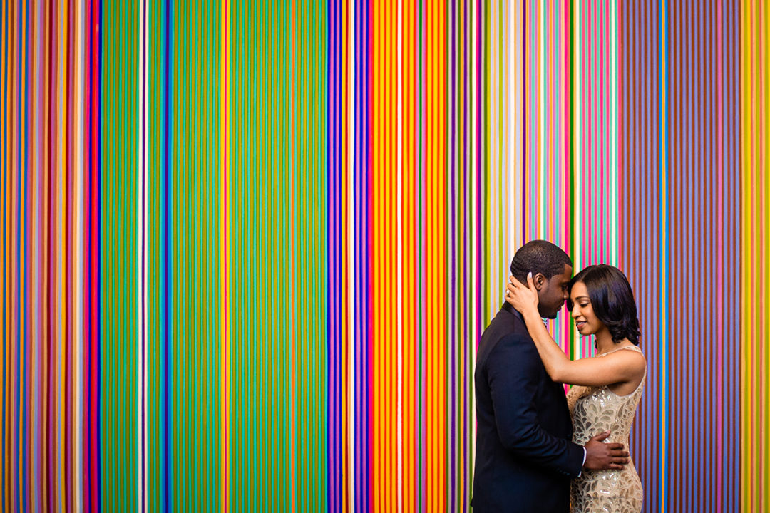 Creative engagement photos at the National Portrait Gallery in DC by Anji Martin of Potok's World Photography