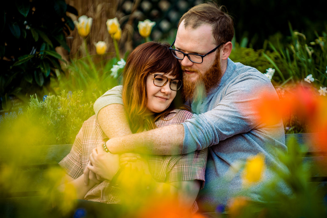 Spring engagement session in the Mary Rippley Gardens in Washington DC by DC wedding and elopement photographers of Potok's World Photography