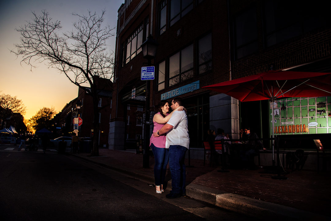 Old Town Alexandria engagement photos by DC wedding photographers of Potok's World Photography