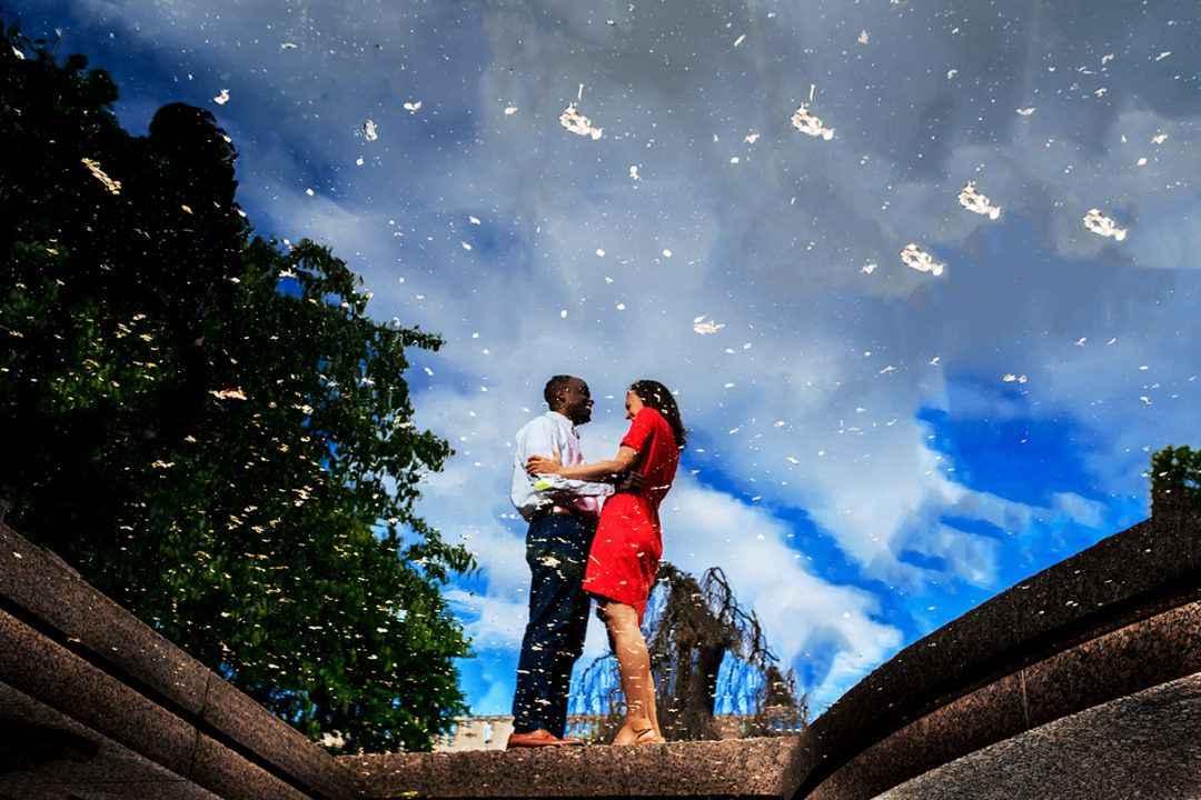Smithsonian Moongate Garden engagement photos by DC wedding photographers of Potok's World Photography