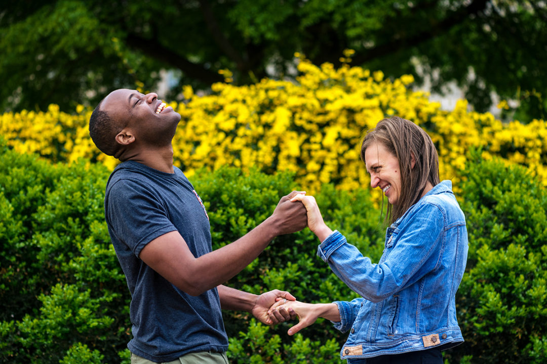 Smithsonian Garden Enid A. Haupt engagement photos by DC wedding photographers of Potok's World Photography