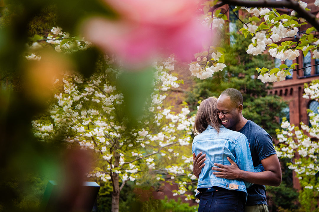 Smithsonian Garden Enid A. Haupt Cherry Blossom engagement photos by DC wedding photographers of Potok's World Photography