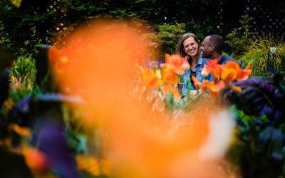 Smithsonian Gardens Engagement Photos – Chrissy + John