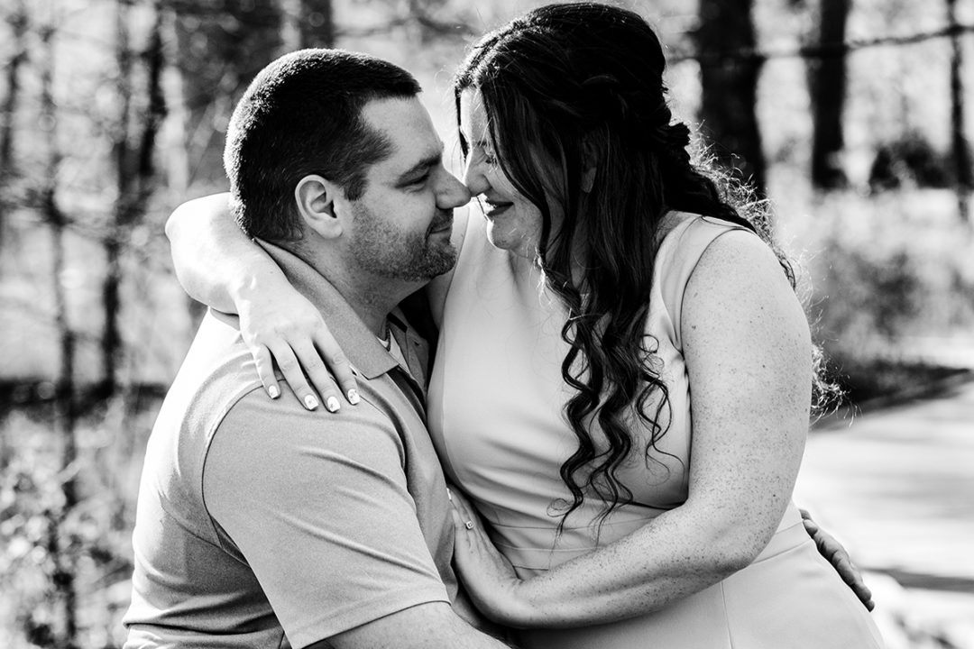 Engagement photos at Green Spring Gardens in Virginia by DC wedding photographers of Potok's World Photography