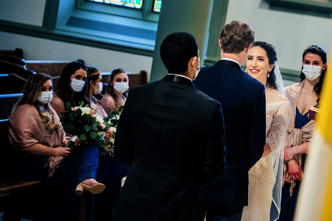 Church ceremony in Capitol Hill by DC wedding photographers of Potok's World Photography