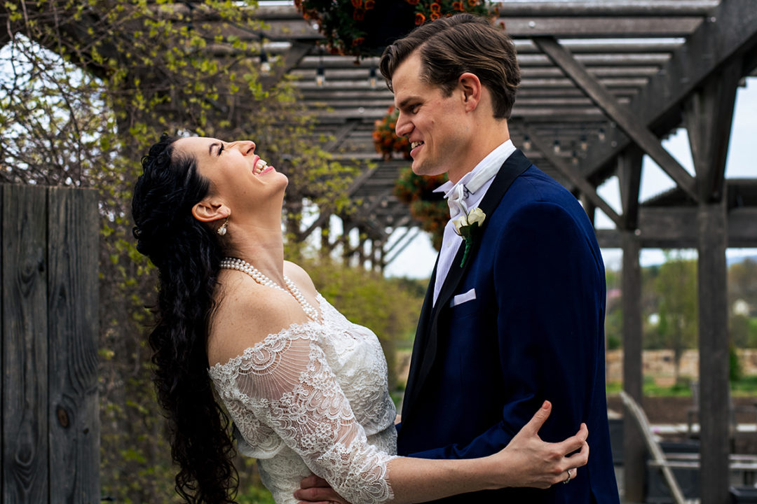 Bride and groom post wedding couple's portraits at Salamander Resort in Virginia by DC wedding photographers of Potok's World Photography