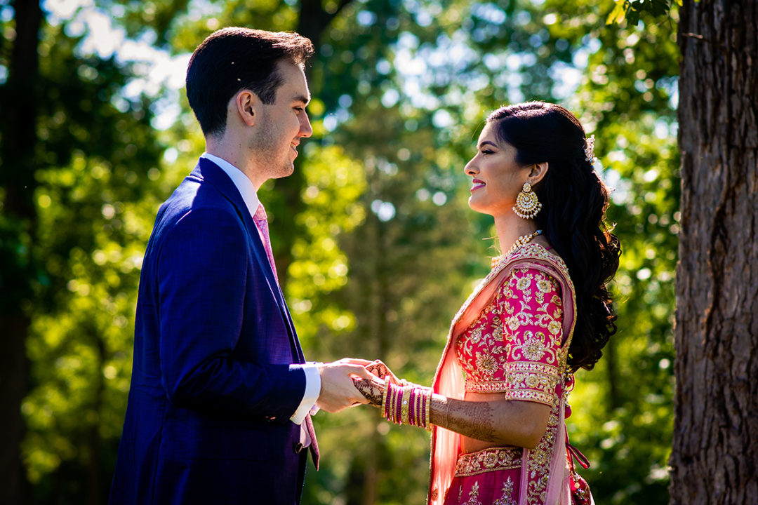 Couples portraits of bride and groom at the Winery at Bull Run by DC wedding photographers of Potok's World Photography