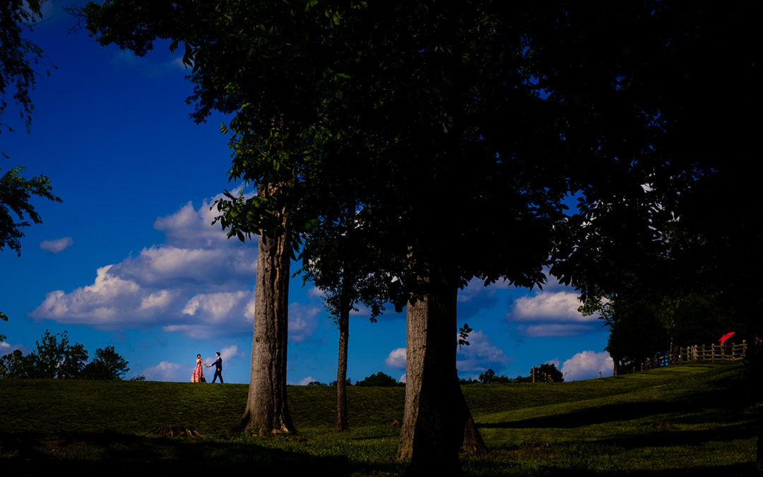 Creative couples portraits of bride and groom at the Winery at Bull Run by DC wedding photographers of Potok's World Photography