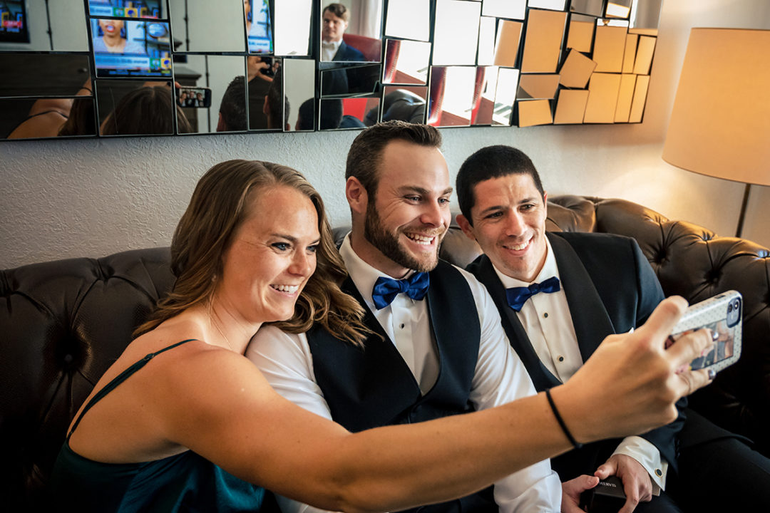 Groom and groomsmen getting ready at Capitol Hill Hotel in Washington DC by Potok's World Photography
