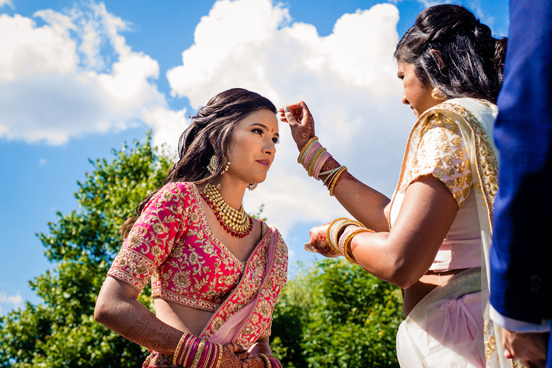 Indian American fusion wedding at the Winery at Bull Run by DC wedding photographers of Potok's World Photography