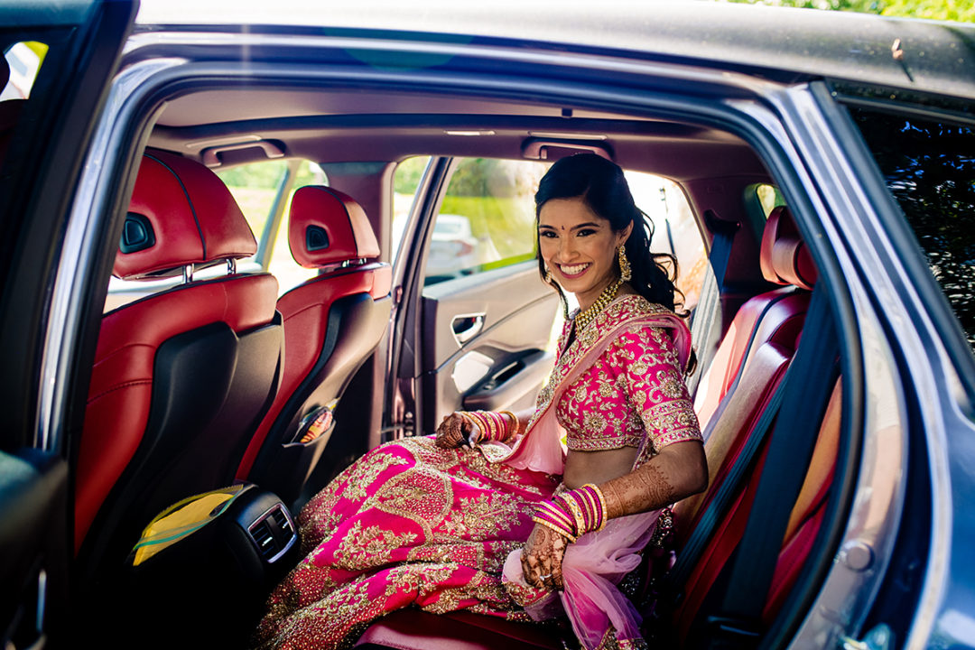 Indian bride getting ready before wedding ceremony at the Winery at Bull Run Virginia by Potok's World Photography